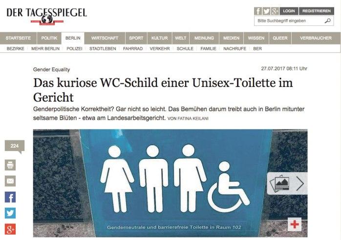 WC-Schild