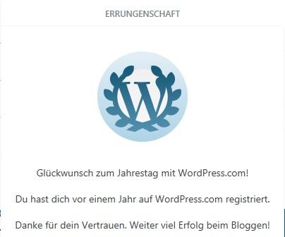 1 Jahr WORD Press